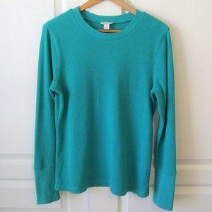Sundance Crewneck Thermal Shirt Teal Size L